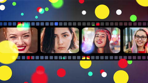 3 Film Strip Openers + vertical After Effects Template