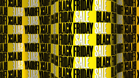 Black Friday Sale Text Motion Background Animation