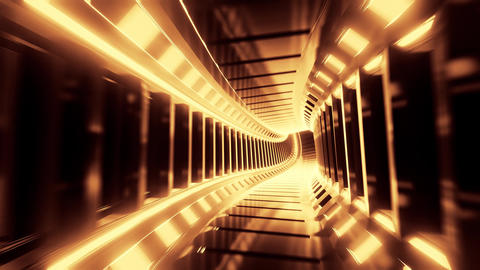 abstract reflective design tunnel corridor 3d illustration live wallpaper motion Animation