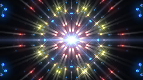Kaleidoscope illumination neon Dh3 blue1 4k Animation