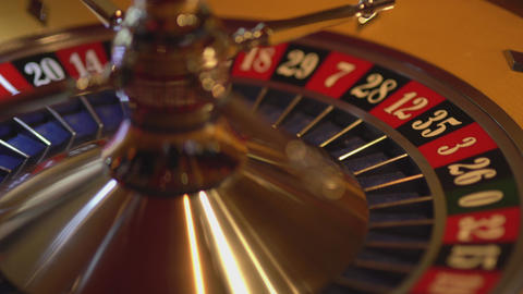 Roulette wheel in action - 29 black wins Live Action