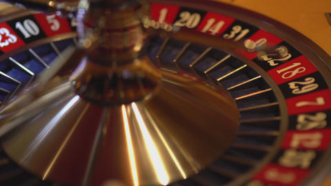 Roulette wheel in action - 19 red wins Live Action