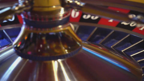 Roulette wheel - close up shot - 16 red wins Live Action