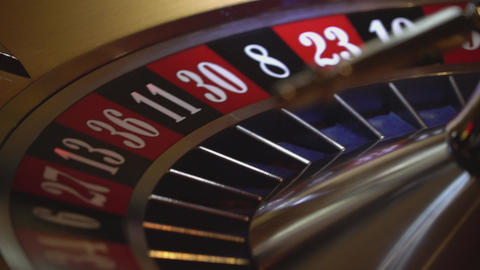 Gambling Roulette - close up shot Footage