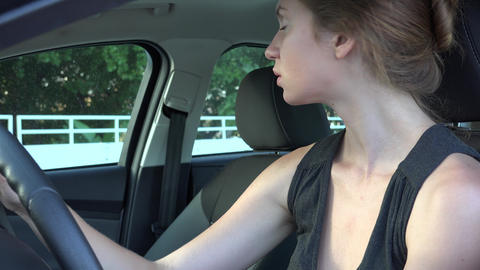 Woman Checking Car Mirrors Live Action