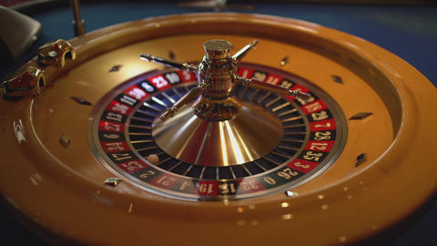Roulette wheel in a casino Footage