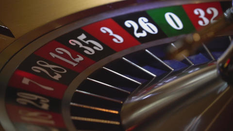 Casino game Roulette - 22 black wins - close up Live Action