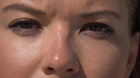 Closeup of Woman's Eyes Footage