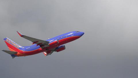 Passenger Jet Taking Off Footage