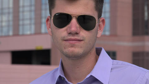 Young Man Wearing Sunglasses Live Action