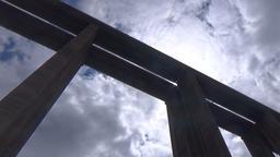 Vitinya Bridge, Bulgaria July 17, 2016: Bungee jumpers 390 feet bridge jump Footage