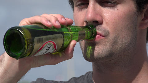 Man, Male, Beer, Alcohol Footage