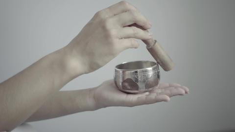 Singing Bowls, Himalayan Bowls, Tibetan Bowls Footage