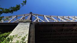 Low Angle Establishing Shot Queensboro Bridge Footage
