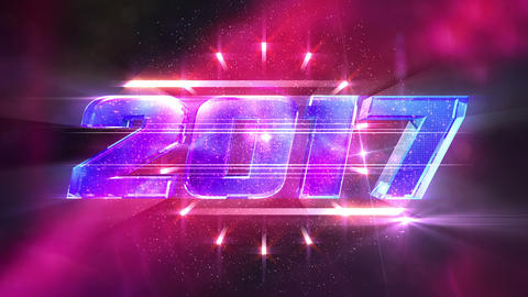 New Year 2017 Loopable Background Animation