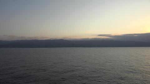 View of Ocean at Dusk or Dawn Footage