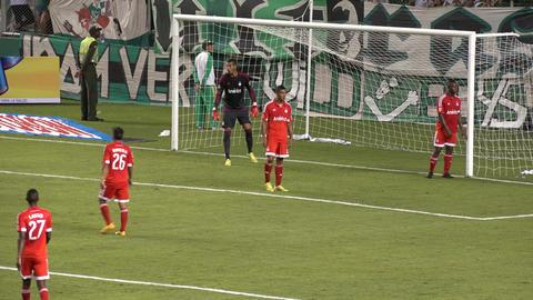Soccer Goalie and Defense Live Action