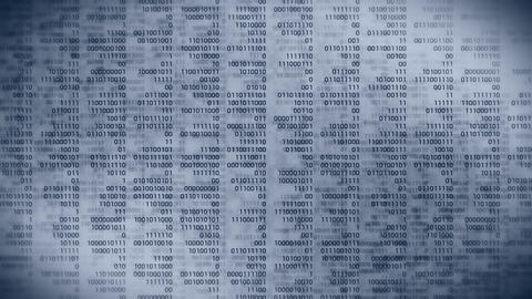 Binary code gray background. Web online streaming with... Stock Video Footage
