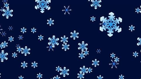 Snowflakes falling down Animation