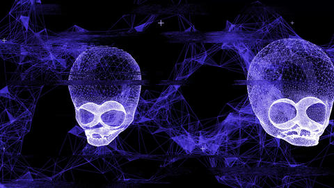 Techno Alien Skull VJ-Loop 1 Animation