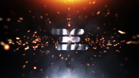Spark Explosion Logo Intro After Effects Template