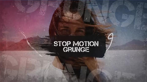 Stop Motion Grunge Premiere Pro Template