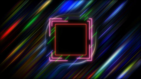 Neon Square in Hyper Space Videos animados