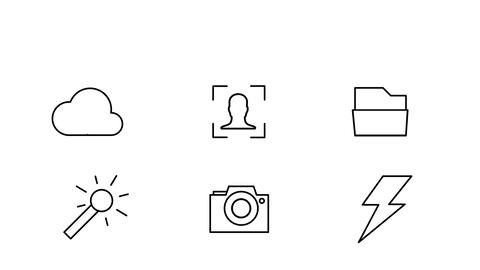 Photo Icons Motion Graphics Template