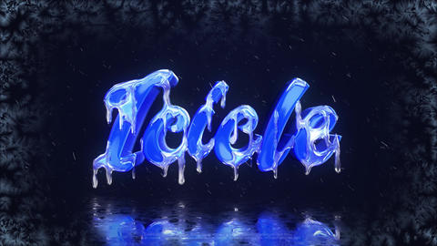 Frozen Logo After Effects Template