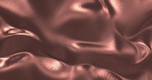 Rose Gold sparkly silk background. Glamour satin texture 3D rendering loop 4k Animation