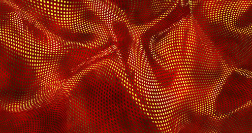 Red sparkly satin background. Glamour satin texture 3D rendering loop 4k Live Action