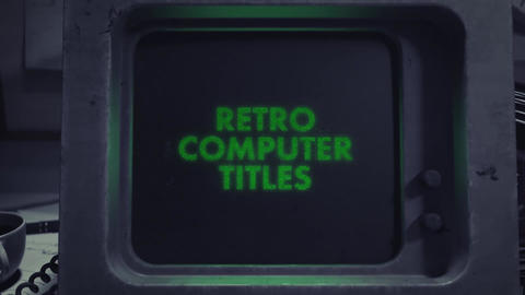 Retro Computer Motion Graphics Template