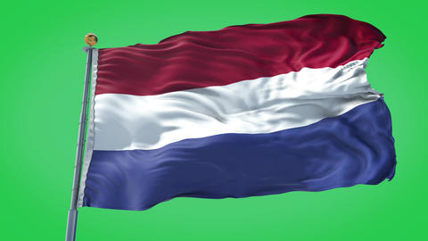 Netherlands animated flag pack in 3D and green screen Animation