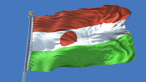 Niger animated flag pack in 3D and isolated background Animation
