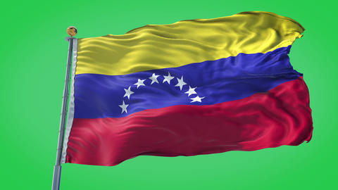 Venezuela animated flag pack in 3D and green screen Animation