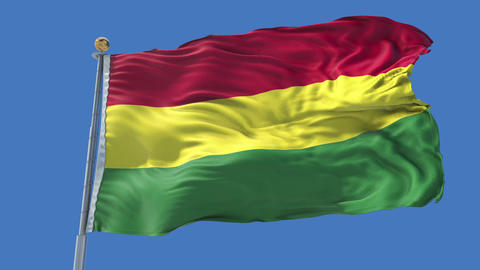 Bolivia animated flag pack in 3D and isolated background Animation