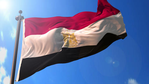 Egypt animated flag pack in 3D and green screen Animation