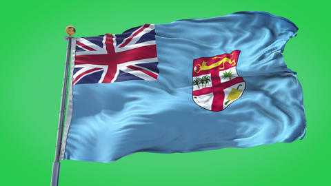Fiji animated flag pack in 3D and green screen Animation