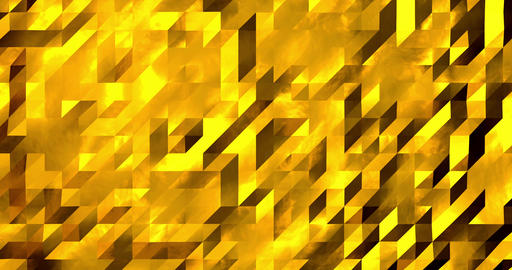 Abstract golden 3D geometric pattern. Mosaic metall background. New year texture Animation