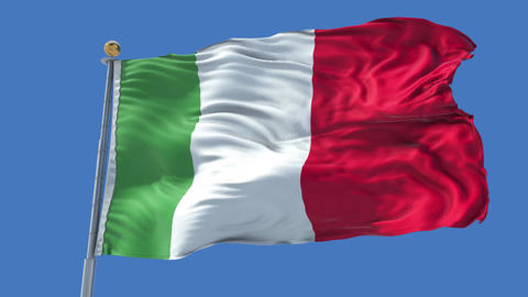 Italy animated flag pack in 3D and isolated background Animation