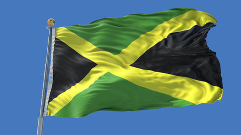 Jamaica animated flag pack in 3D and isolated background Animation