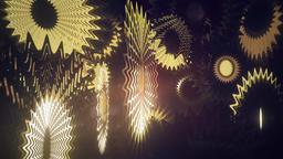 Golden Abstract pendant-like Geometry Loop Animation