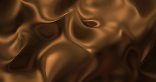 Liquid hot chocolate background. Melted dark chocolat texture 3D rendering loop Animation