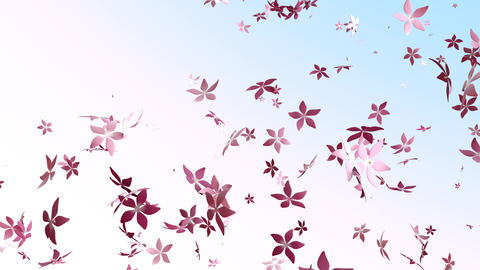 Pink Cute Soaring Flowers Videos animados