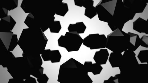 Background of Icosahedrons Videos animados