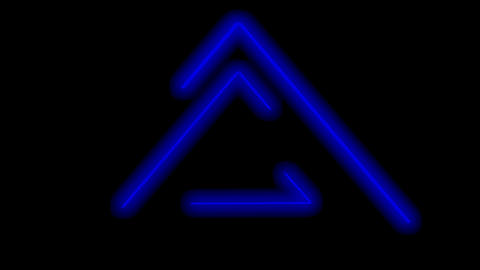 Abstract seamless looped animation of neon glowing light lines making triangles, loop Videos animados