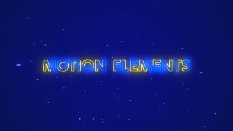 【ネオン】オープニングテキストアニメーション! After Effectsテンプレート