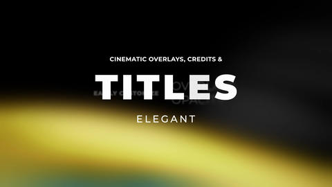 Titles Elegant Cinematic 2 Motion Graphics Template