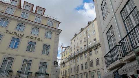 Typical house facades in the historic district of Lisbon - CITY OF LISBON Live Action