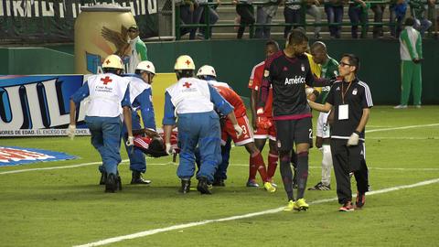 Medical Team for Injured Soccer Player Live Action